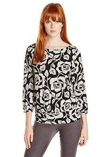 Lucky Brand Women's Rose Vine Top