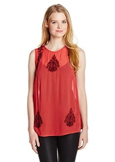 Lucky Brand Women's Ruby Embroidered Tank Top