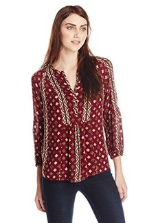 Lucky Brand Women's Shiloh Printed Peasant Top