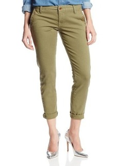 Lucky Brand Women's Sienna Chino Pant with Studs In Field Green