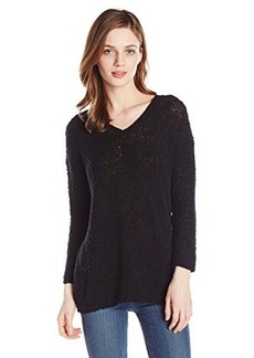 Lucky Brand Women's Solid Sweater Tunic Sweater
