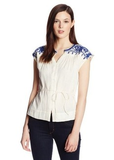 Lucky Brand Women's Sori Embroidered Top