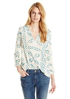 Lucky Brand Women's Stitched Motif Top