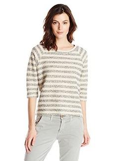 Lucky Brand Women's Striped Active Raglan Sweater