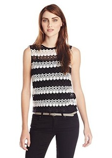 Lucky Brand Women's Striped Lace Tank Top