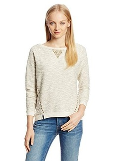 Lucky Brand Women's Studded Metallic Pullover