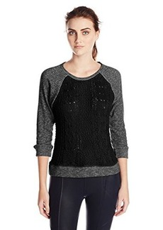 Lucky Brand Women's Sweater Front Pullover Sweatshirt
