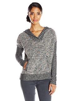Lucky Brand Women's Sweater Mixed Hoodie Sweatshirt