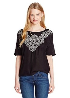 Lucky Brand Women's Sydney Embroidered Top