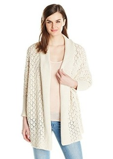 Lucky Brand Women's Textured Cocoon Cardigan Sweater