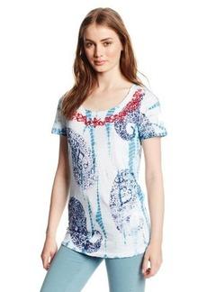 Lucky Brand Women's Tie Dye Paisley Tee