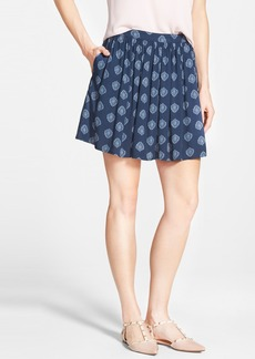 Lucky Brand Wood Stamp Print Flirty Skirt