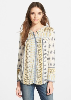 Lucky Brand Woodblock Border Print Top
