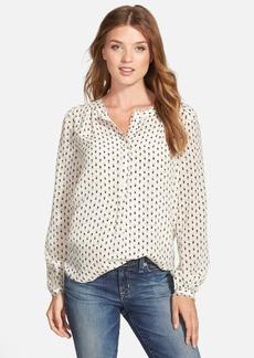 Lucky Brand 'Woodstamp' Print Silk Shirt