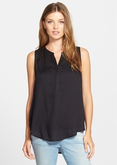 Lucky Brand Woven Tank with Back Cutout