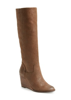Lucky Brand 'Yacie' Leather Wedge Boot (Women)