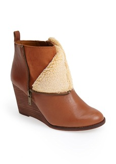 Lucky Brand 'Yorque' Wedge Leather Bootie (Women)