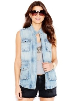 Lucky Brand Zip-Front Chambray Vest