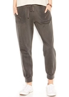Lucky Lotus by Lucky Brand Mesh-Detail Jogger Pants