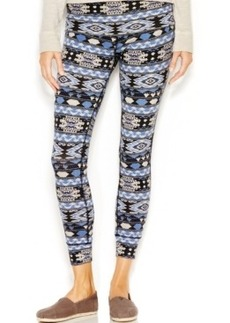 Lucky Lotus by Lucky Brand Printed Foldover Ankle Leggings