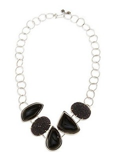 MULTI STONE BIB NECKLACE