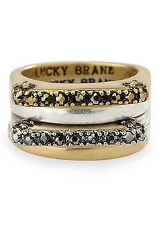 PAVE DOUBLE STACK RING