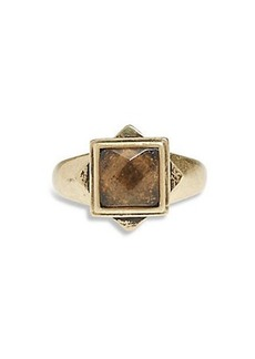 SET STONE SQUARE RING
