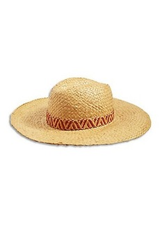 SQUARE WEAVE FLOPPY HAT