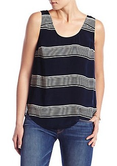 STRIPED CROSS BACK TANK