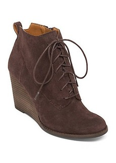 YOANNA LACE UP WEDGE BOOT