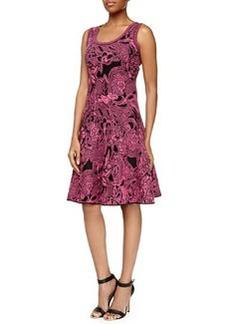 Floral Intarsia-Knit Dress, Pink   Floral Intarsia-Knit Dress, Pink