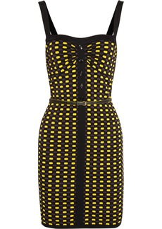 M Missoni Belted crochet-knit mini dress