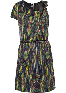 M Missoni Belted printed jersey dress