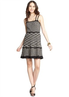 M Missoni black and white cotton blend colorwave sleeveless tank mini dress