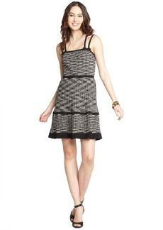 M Missoni black and white cotton blend colorwave sleeveless tank mini dress