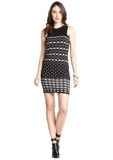 M Missoni black and white patterned cotton blend sleeveless dress