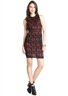 M Missoni black diamond print cotton blend knit sleeveless dress