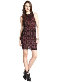 M Missoni black diamond print cotton blend knit sleeveless dress