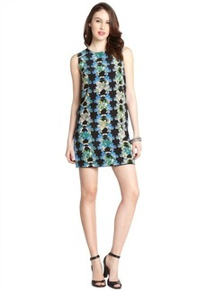 M Missoni black floral print silk sleeveless shift dress