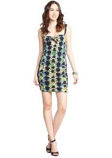M Missoni black stretch floral print sleeveless tank mini dress