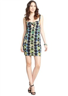 M Missoni black stretch floral print sleeveless tank mini dress