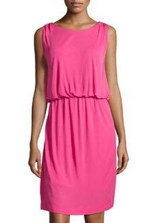 M Missoni Blouson Sleeveless Scoop-Neck Dress, Fuchsia