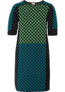 M Missoni Checked wool-blend dress