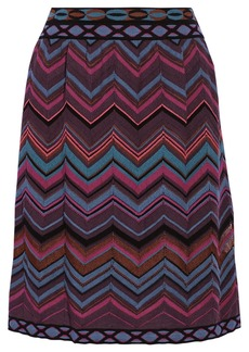 M Missoni Chevron-knit skirt