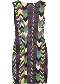 M Missoni Chevron-print gathered jersey dress