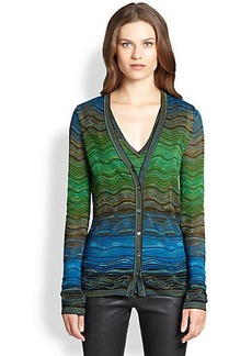 M Missoni Classic Ripple-Knit Cardigan