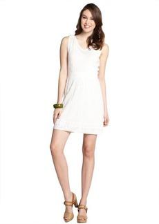 M Missoni cream stretch wool blend sleeveless knit dress