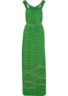 M Missoni Crochet-knit cotton-blend maxi dress