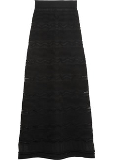 M Missoni Crochet-knit cotton-blend maxi skirt