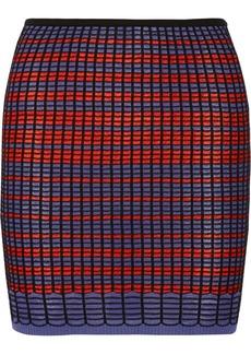 M Missoni Crochet-knit cotton-blend mini skirt